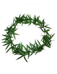 Collar Hawái flores verdes
