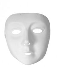 Máscara blanca con goma