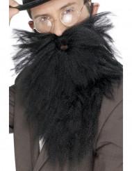 Barba larga negra hombre