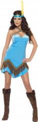 Disfraz india sexy azul mujer
