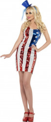 Disfraz vestido USA mujer