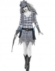 Disfraz de vaquera fantasma mujer Halloween