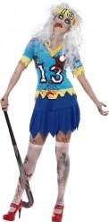 Disfraz zombi jugadora de hockey mujer Halloween