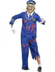 Disfraz zombi piloto hombre Halloween