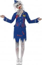 Disfraz de zombi azafata mujer Halloween