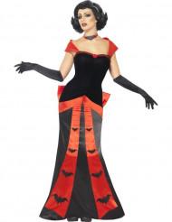 Disfraz de vampiro murciélago mujer Halloween