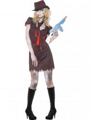 Disfraz de zombie gangster sexy mujer Halloween