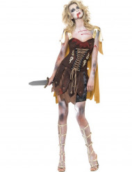 Disfraz de zombi gladiador sexy mujer Halloween