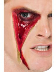 Herida falsa cremallera adulto
