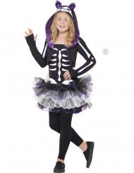 Disfraz de esqueleto gato niña Halloween