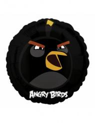 Globo aluminio Angry Birds™ negro 45 cm