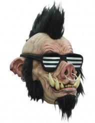 Máscara jabalí punky adulto
