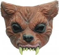 Semi-máscara de hombre lobo adulto Halloween