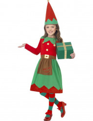 Disfraz elfo niña de Navidad