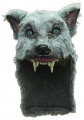 Máscara de lobo gris adulto