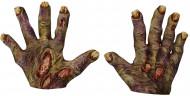 Manos de zombie adulto Halloween
