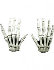 Guantes cortos esqueleto adulto Halloween