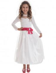 Disfraz Barbie™ novia niña