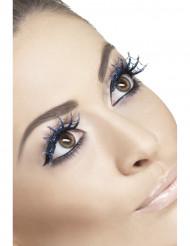 Pestañas postizas azul telaraña mujer