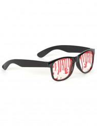 Gafas manchadas de sangre