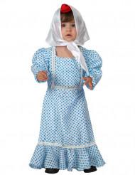 Disfraz de madrileña azul bebé
