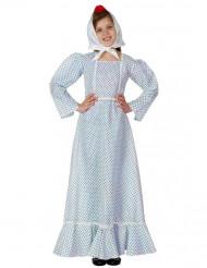 Disfraz de madrileña azul niña