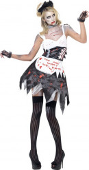 Disfraz de zombi hambrienta mujer Halloween