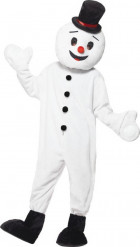 Disfraz muñeco de nieve mascota adulto Navidad