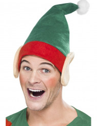 Gorro de elfo con orejas adulto Navidad
