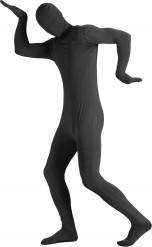 Disfraz de segunda piel negro adulto