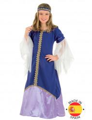 Disfraz de reina medieval niña