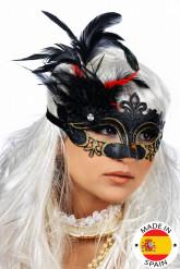 Máscara con plumas adulto