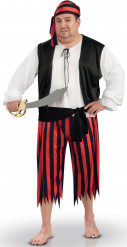 Disfraz de pirata hombre talla grande