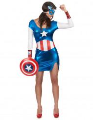 Disfraz de Capitán América sexy mujer