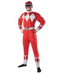 Disfraz Power Rangers™ rojo adulto