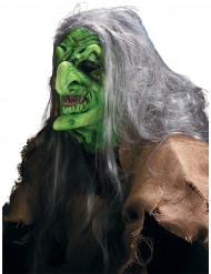 Maquillaje máscara de bruja de los pantanos Halloween adulto