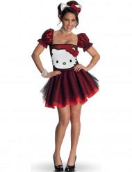 Disfraz Hello Kitty™ rojo adulto