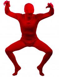 Disfraz de segunda piel rojo adulto