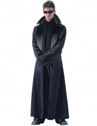 Disfraz abrigo largo negro hombre