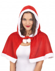 Capa con capucha Mama Noel mujer