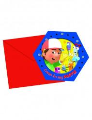 6 Tarjetas de invitación Manny Manitas™