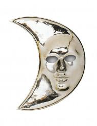 Máscara luna plateada adulto