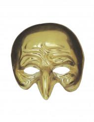 Semi máscara dorada nariz aguileña