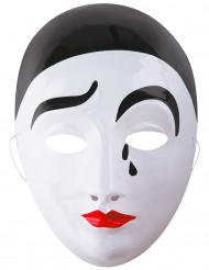 Máscara Pierrot adulto