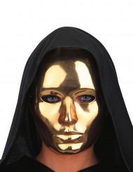 Máscara dorada cromada adulto