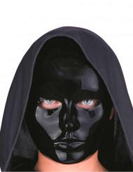 Máscara rostro negro adulto