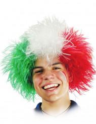 Peluca hincha Italia adulto