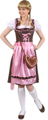 Disfraz tradicional de bávara rosa mujer