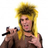Peluca punk amarilla adulto