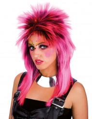 Peluca punk rosa adulto